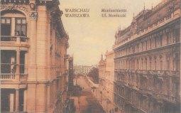 Ulica Moniuszki w drugiej dekadzie XX wieku.