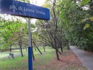 Imię pułkownika doktora Leon Strehla zostało nadane skwerowi na terenie dawnego Szpitala Ujazdowskiego, na tyłach Parku Ujazdowskiego.