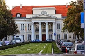 Pałac Mniszchów. W czasie niemieckiej okupacji mieścił się w budynku Szpital Maltański.