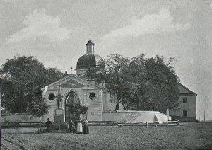 Kościół pod wezwaniem Świętego Antoniego Padewskiego znalazł się w granicach Warszawy z początkiem kwietnia 1916 roku. Zdjęcie: Biblioteka Narodowa. Domena publiczna.