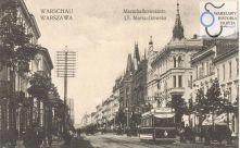 Opis ze strony www.Warszawa1939: Od prawej: dwie kamieniczki pod nr 64 na rogu Wilczej, dalej nr 66, neogotyckie nr 68/70 i 72 u wylotu Skorupki, nr 74 na rogu Hożej.