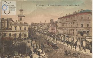 Skrzyżowanie Alej Jerozolimskich i Marszałkowskiej.