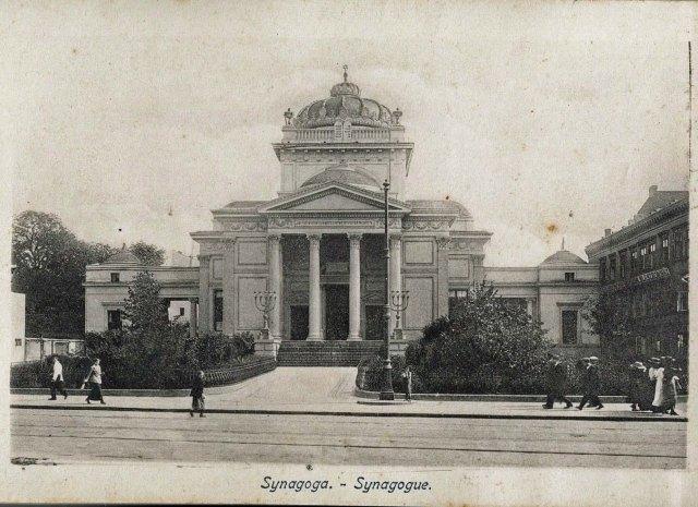 Wielka Synagoga. Pocztówka z początku wieku.