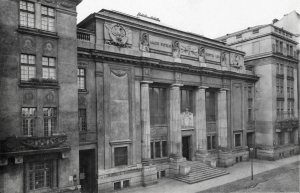 Fasada gmachu Biblioteki Krasińskich przed wojną.