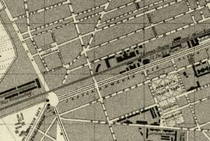 Plac Witkowskiego na planie Warszawy z roku 1879.