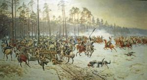 Bitwa pod Stoczkiem. Jan Rosen. Obraz w zbiorach Muzeum Wojska Polskiego.