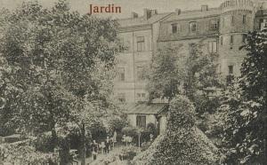 "Ogród na tyłach hotelu ""Victoria""."
