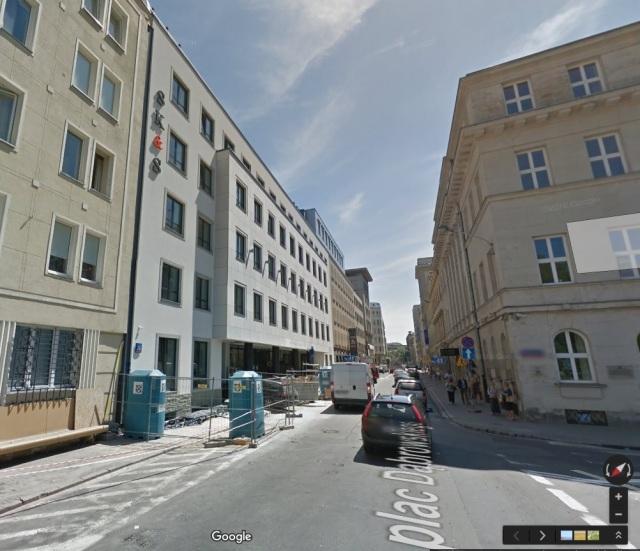 Ulica Jasna 26 współcześnie na Google Maps.