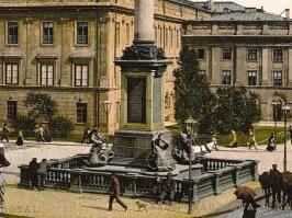 Fontanna na początku XX wieku.