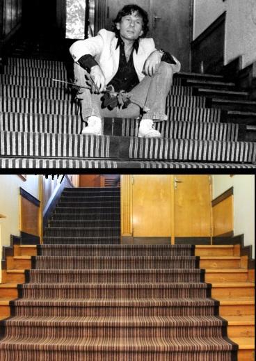 Na tych schodach też robiliśmy sobie zdjęcia. Łodzka Szkoła Filmowa.