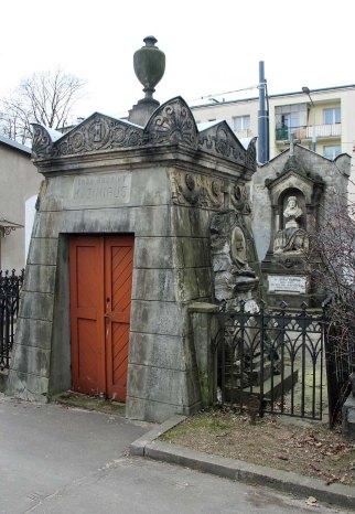 Grób rodziny Kazimirusów. Cmentarz Ewangelicko Augsburski.
