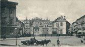 Pałac Brühla wysadzony został przez Niemców w roku 1944.