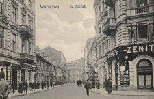 Ulica Niecała.Widok od strony placu Saskie. Widoczna na zdjęciach zabudowa nie przetrwała II Wojny Światowej.