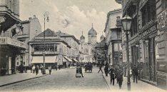 Ulica Wierzbowa. Widok w kierunku placu Saskiego.