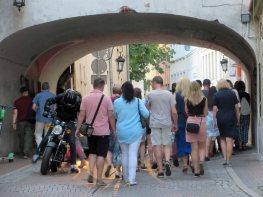 Pod warszawskim mostem zakochanych.