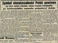 """Gazeta """"Dobry Wieczór Kurier Czerwony"""" z dnia 19 września 1939 roku. Informacja o pożarze Zamku Królewskiego oraz śmierci Kazimierza Brokla."""