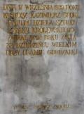Obelisk w miejscu wojennego groby Kazimierza Brokla.