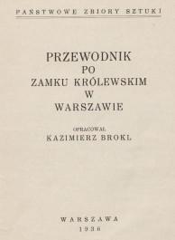 Strona tytułowa przewodnika po Zamku Królewskim